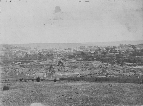 This image is taken from above Spring Creek overlooking the diggings in Beechworth.