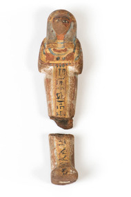 Ushabti photograph depicting the front of the artefact.