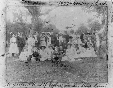 St Matthew's CofE Picnic at Dandenong Creek - 1907