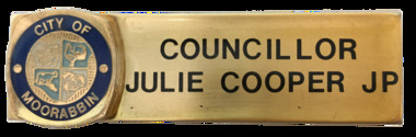 Name Badge for Councillor Julie Cooper