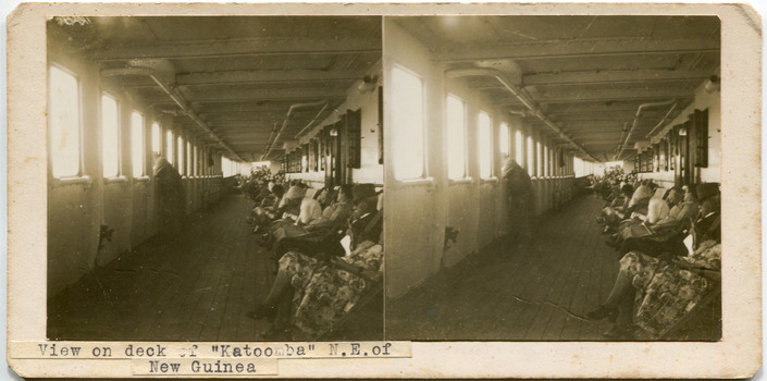 """View on deck of """"Katoomba"""" N.E. of New Guinea"""
