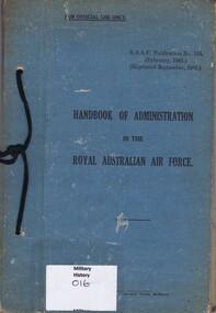 Book - Handbook, Handbook of Administration in the Royal Australian Air Force, 1941_