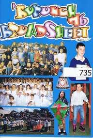 School Magazine, 'Borough Broadsheet 96. Gr8750, 1996_