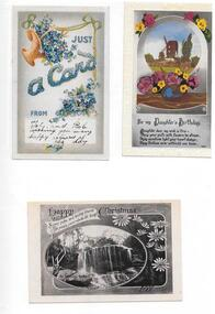 Postcards, Copies of Postcards sent to members of the Whatmough family, 20th century, 1908-1930