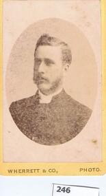 Photograph, Wherrett & Co, Unidentified male, 1882c