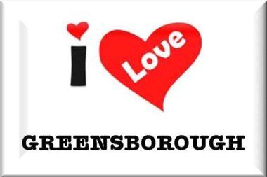 Sticker - Digital Image, I love Greensborough, 1990, 1990s