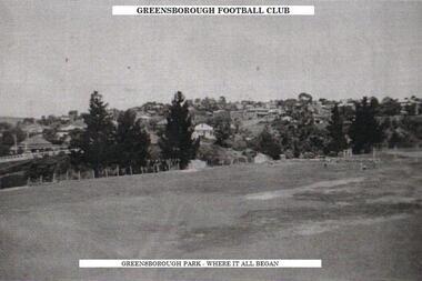 Photograph - Digital Image, Old Greensborough Oval, Greensborough Football Club, 1937_