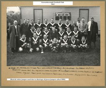 Photograph - Digital Image, Greensborough Football Club. Team photograph 1947, 1947_
