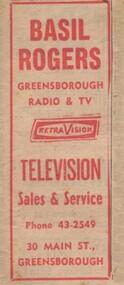 Advertisement - Digital image, Basil Rogers, 1966, 19/04/1966