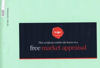 Advertising Card, Barry Plant Bundoora, 2015_08