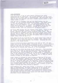 Document, Alan Partington et al, The Arrival and settlement of my family in Australia, by Alan Partington, 1830-1920