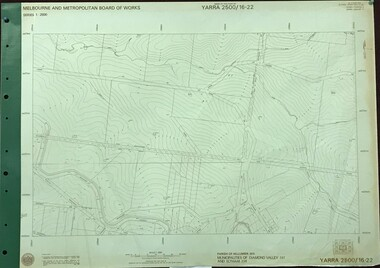 Map, Melbourne and Metropolitan Board of Works. Survey Division, MMBW, Yarra 2500 / 16.22. Research, 1979_05