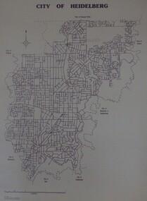 Maps, City of Heidelberg 1989, 1989_05
