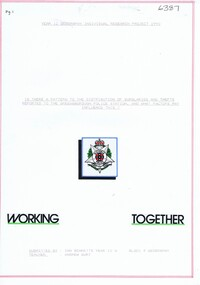 Folder, Ian Bennetts, Is there a pattern to the distribution of burglaries and thefts reported to the Greensborough police station, and what factors may influence this? by Ian Bennetts, 1990_