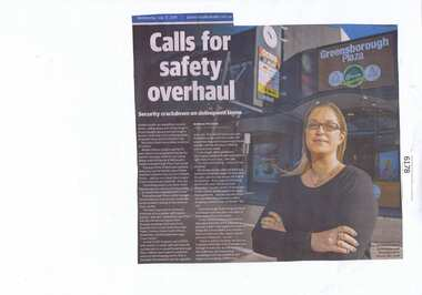 Newspaper Clipping, Calls for safety overhaul, 17/07/2019
