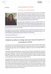 Article, Anne-Marie Primmer: by default, or by design, by Rosie Bray, 2019_