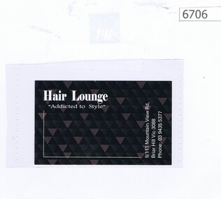 """Business card, Hair Lounge """"Addicted to Style"""", 2019_"""