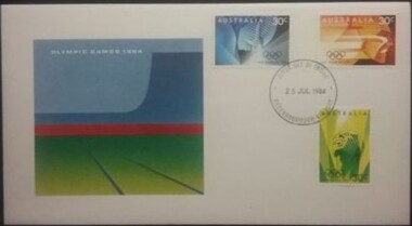Postage Stamps - Digital Image, Olympic Games 1984: First Day Cover, 25/07/1984