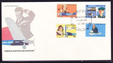 Postage Stamps - Digital Image, Famous Australians, Aviators: First Day Cover, 16/04/1978