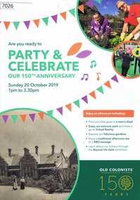 Pamphlet, Leith Park Celebration Day 2019 program, 20/10/2019