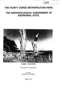 Book, Isabel Ellender, The Plenty Valley Corridor: the archaeological survey of Aboriginal sites / by Isabel Ellender 1991, 1991_