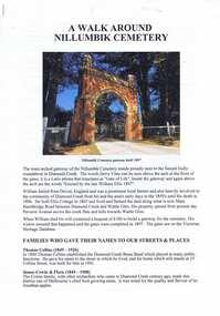 Document - Article, Nillumbik Historical Society, A Walk around Nillumbik Cemetery, 22/10/2019