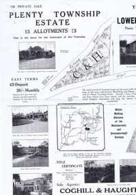 Plan - Advertising Leaflet, Coghill & Haughton, Plenty Township Estate and Bryn Teg Hill's Estate