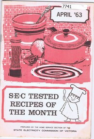 Booklet - Recipe Book, S.E.C tested recipes of the month, April '63, 1963