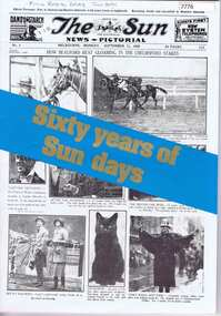 """Newspaper, The Sun News-Pictorial: """"Sixty years of Sun days"""" edition 24/06/1982, 24/06/1982"""