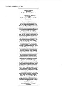 Newspaper - Photocopy, C 1922
