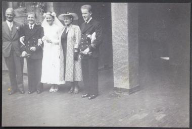 Photograph, Wedding party photograph, Circa 1930s