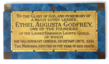 Plaque - Opus sectile tablet, 1936