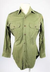 Uniform - Shirt, Green, Field Dress, 1980