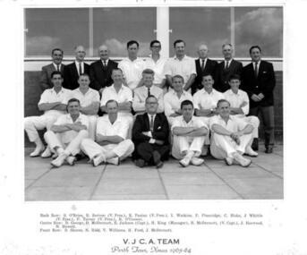 Photograph, VJCA team to tour Perth in 1963-64, c. 1964
