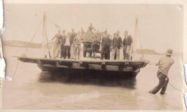 Photograph, Punt crossing from Newhaven to San Remo