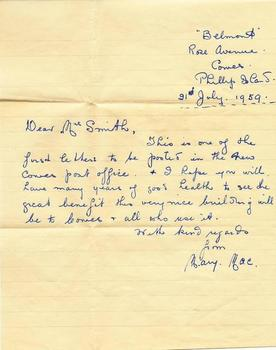 First letters posted from the new Post Office.jpg