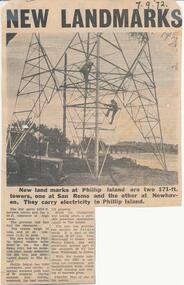 Newspaper Clipping, New Landmarks, 7/9/1972