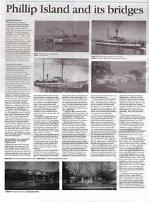 Newspaper Articles, Western Port News, Phillip Island and its Bridges, 23/12/2014