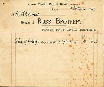 Document & Photograph, Robb & West Family, 1918 & 1930