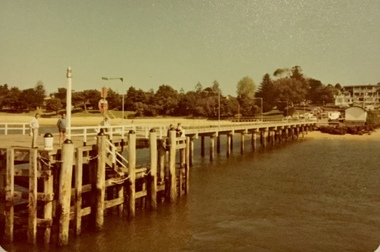 Photograph, Cowes jetty and Matthew Brady ferry, About 1980