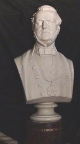 Plaster Portrait Bust, Justice Redmond Barry, 1884