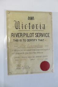 Certificate, 12/02/1912