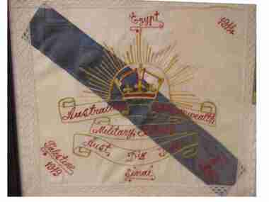 Cushion Cover, Cushion Cover from WW1, (estimated); 1914-1919