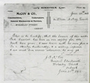 reference: A photocopy of a reference given to Edward Lawless when he enlisted for service in WW1