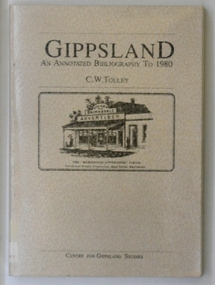 book, Gippsland An Annotated Bibliography to 1980, 1987