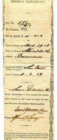 certificate, March 29th 1888
