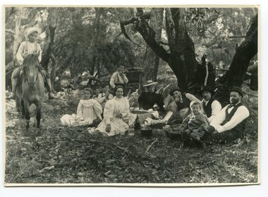 black and white photograph, 1901