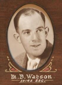 Photo - Watson, Thornton Richards & Co. Ballarat, Watson . M.B. (Shire Secretary).1954, 1954 (exact)