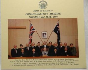 Photo, Shire of Ballarat Commemorative Meeting Monday 2nd May,1994