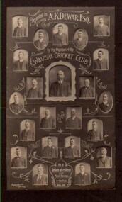 Photo, Richards & Co, Waubra Cricket Club.1908, circa 1908